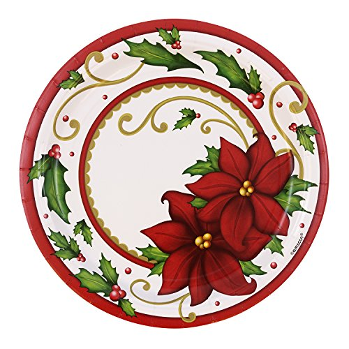 JAM Paper Christmas Party Plates - Large - 9