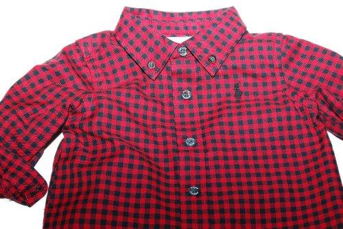 Ralph Lauren Polo Layette Boys Shirt Pant Set Yorke Dog Red Green 6M by Ralph Lauren (Image #1)