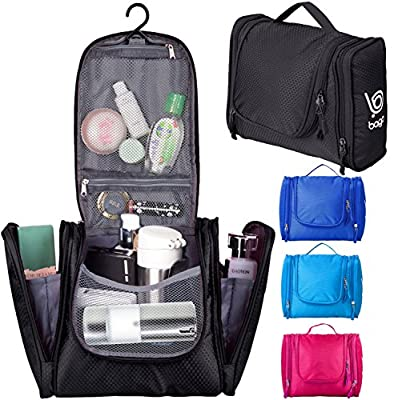 Bago Hanging Toiletry Bag For Men & Women - Toiletries & Shave Travel Organizer