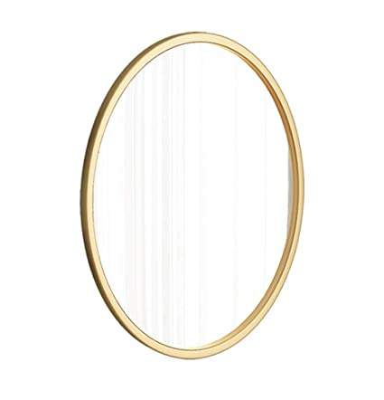 Amazon Com Syf Mirror Gold Metal Frame Oval Bathroom Mirror Round