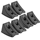 DEDC 6PCS Heavy Duty Wheel Chocks for Caravan Car Wheel Stoppers Tire Stoper with Rope