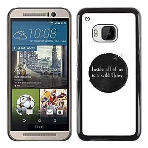 GIFT CHOICE / SmartPhone Carcasa Teléfono móvil Funda de protección Duro Caso Case para HTC One M9 /WILD THING MESSAGE/