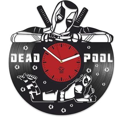 Vinilo reloj, Deadpool Wade Ryan Reynolds, película disco de vinilo reloj de pared vinilo