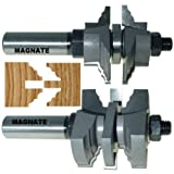 "Magnate 9029S Stile / Rail Router Bits - 1"" to 1-3/8"" Material - Cove & Bead Profile; Stile Cut"