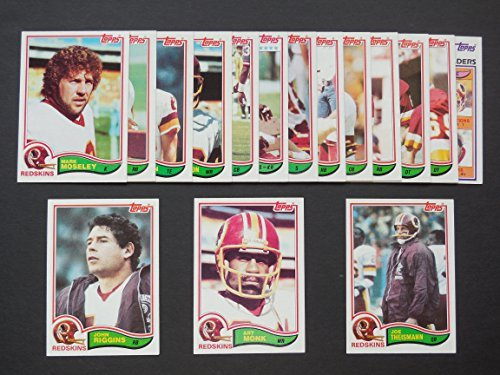 Washington Redskins (Super Bowl Champions) 1982 Topps Football Team Set** Wilbur Jackson, Art Monk, Mark Moseley, Mark Murphy,,, John Riggins, Joe Theismann,, Joe Washington and More Art Monk Washington Redskins