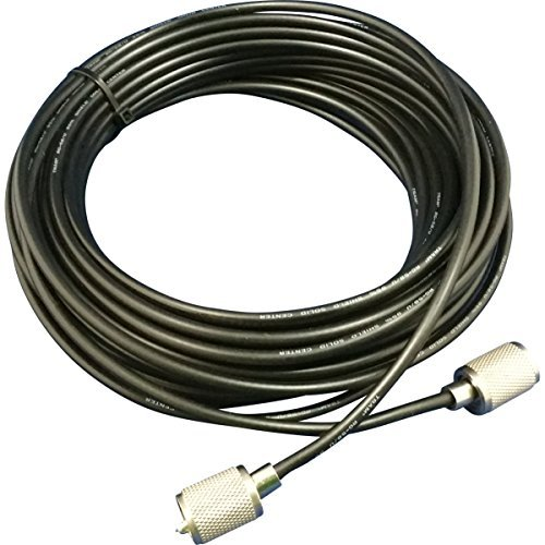 (Tram 58UP B Rg58 U 95% Shielded Coax Cable with hand soldered PL-259 for Cb / Ham / Scanner Radio 100' FEET)