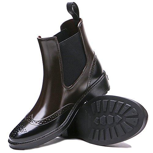 Women's Waterproof Brown Boots Rain Rubber Short Ankle Fashion TONGPU g5pqx