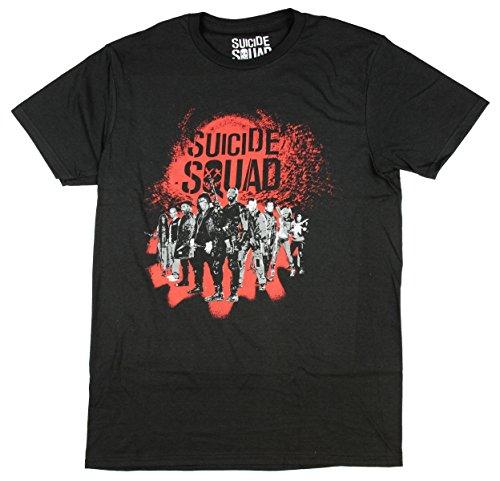 Bioworld DC Comics Suicide Squad Group Mens Black T-Shirt