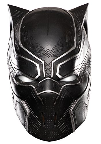 [Rubie's Costume Captain America: Civil War Kid's Black Panther Full Vinyl Mask] (Black Men Halloween Costume)