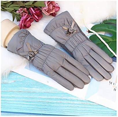 BTXXYJP 暖かい手袋の女性滑り止めの厚いタッチ画面の冬の屋外の防風手袋 (Color : ピンク, Size : One Size)
