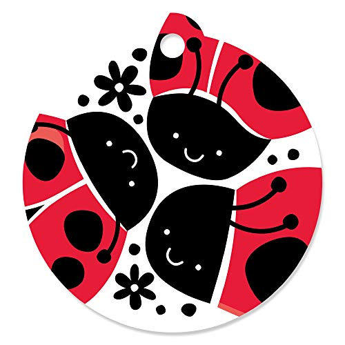 Happy Little Ladybug - Baby Shower or Birthday Party Favor Gift Tags (Set of -