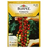 Burpee Tomato Cherry Super Sweet 100 Hybrid Seed Packet