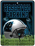 Rico NFL Carolina Panthers 8-Inch by 11-Inch Metal Parking Sign Décor