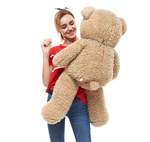 DOLDOA Big Teddy Bear Stuffed Animals Plush Toy for Girlfriend Children (39 inch, -