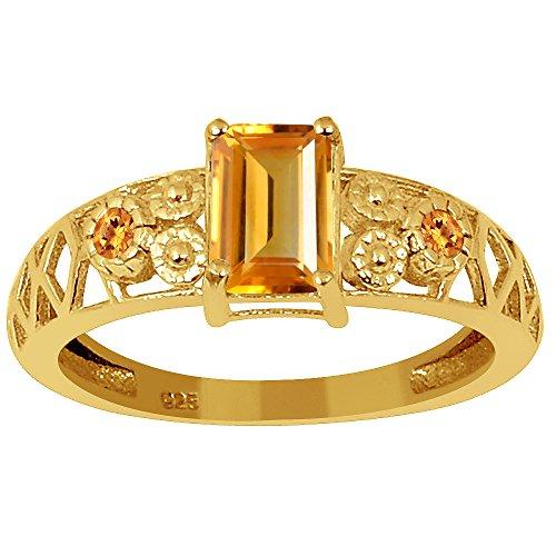 ne 18k Gold Over Sterling Silver Filigree Women's Ring ()