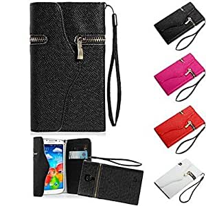 LZX Wallet style Full Body Case for Samsung Galaxy S4 I9500 (Assorted Color)