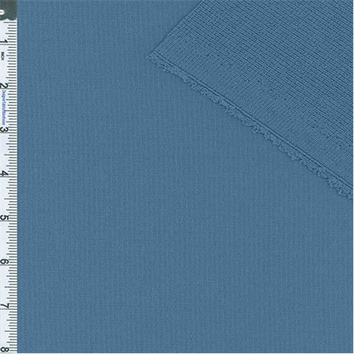 Medium Blue Polartec Single Layer Jersey/Texture Grid, Fabric By the Yard