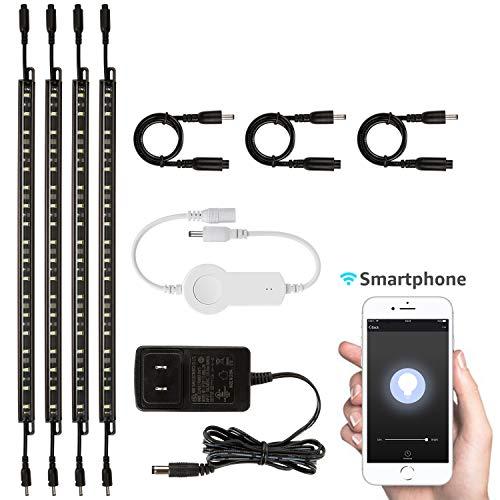 Smart LED Safe Lighting Kit(4), Compatible with Alexa, App Control, Dimmable, 5000K Daylight, for Under Cabinet, Gun Safe, Locker, Shelf, Closet, Showcase