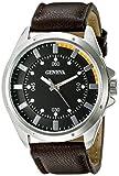 (US) Geneva Men's FMDJM507C Analog Display Japanese Quartz Brown Watch