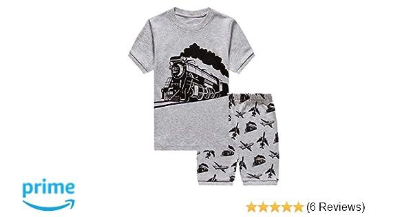 7ee1e0664 Amazon.com  Boys Pajamas Set Cotton Toddler Clothes Summer Short ...
