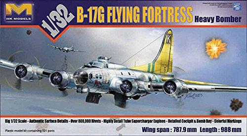 Heavy Bomber Kit - HK Models 1:32 B-17G Flying Fortress Heavy Bomber Plastic Model Kit #01E04