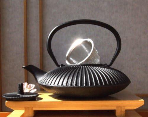 Gifts Of The Orient GOTO® - Salvamanteles Negro Y Arrabio Fundido Hierro Jardín Zen Negro Estilo Japonés De Tetera Cafetera 0.8 Litros: Amazon.es: Hogar