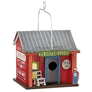 """General Store casa para pájaros–madera y metal–7""""x 8"""" x 8"""