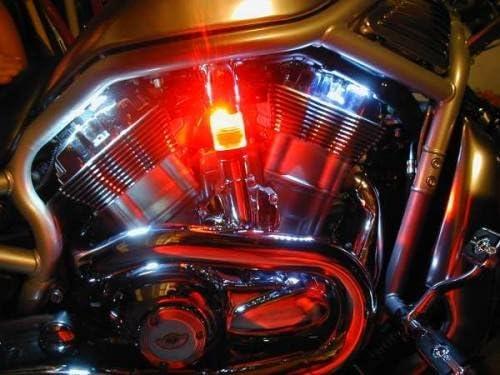 Red LED Back Lit Glass Radiator Hose for Harley-Davidson VRSC V-Rods