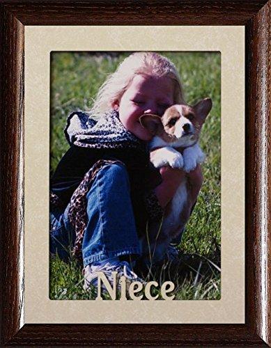 5x7 JUMBO ~ NIECE Portrait Picture Frame ~ Cream Marble Matb