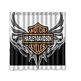 Custom Harley Davidson Waterproof Polyester Fabric Bathroom Shower Curtain Standard Size 66(w)x72(h)