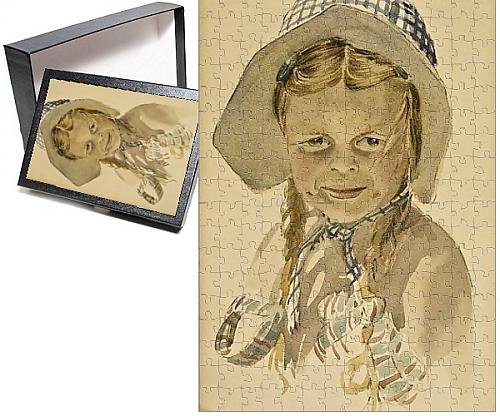 Photo Jigsaw Puzzle of Girl in bonnet
