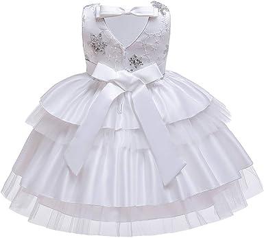 Robe De Soiree Enfant Fille Kolylong Tulle Robe Tutu De Mariee Pour Enfants Filles Deguisement Costume Amazon Fr Vetements Et Accessoires