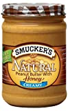 Smucker\s Natural Peanut Butter with Honey, 16-Ounce (Pack of 6)
