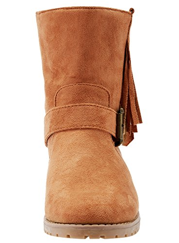 Boots Faux Suede Women's 3700N Brown Fringe Ultra oodji q714RR