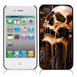 Skull Devil Diablo Hard Plastic and Aluminum Back Case for Apple iphone 4 4S