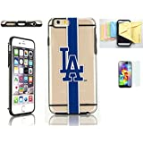 [Iphone 6 / 6s] Forever Collectibles Licensed MLB Clear Tpu Case Momiji [Screen Guard] Protector, Cleaning Cloth [Iphone 6, 6s]
