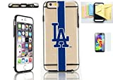 [Iphone 6 / 6s] Forever Collectibles Licensed MLB Clear Tpu Case Momiji® [Screen Guard] Protector, Cleaning Cloth [Iphone 6, 6s] (Los Angeles Dodgers)