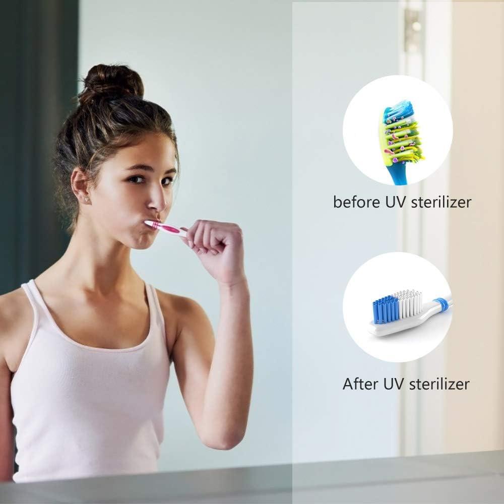 per viaggi e uso familiare Portaspazzolino da denti OOOCOME per disinfettare e disinfettare con punzonatura senza adesivi organizer per spazzolini da denti e spazzolini da denti