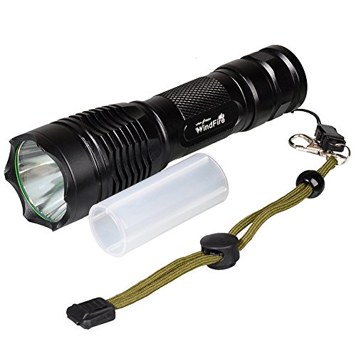 No Battery included Climbing Riding Hiking WindFire T28 CREE L2 Super Bright 2000 Lumens Rechargeable LED Flashlight Torch High Powered Spotlight with 5 Modes for Daily Use Outdoor Camping