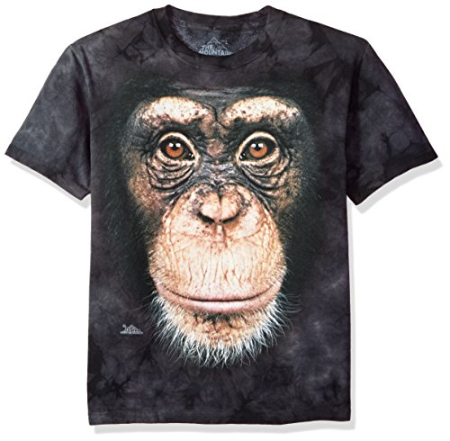 The Mountain Youth Chimp Face Tee, Black, Large (Chimp Face)