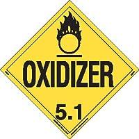 Labelmaster Z-RVW6 Oxidizer Hazmat Placard, Worded, Rigid Vinyl (Pack of 25)