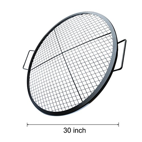 Stanbroil Heavy Duty X Marks Round Fire Pit Cooking Grate Grill With Support Frame  30 Inch