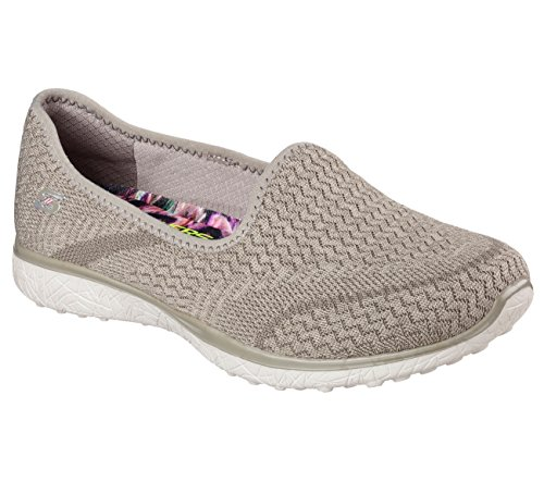 Skechers Microburst All Mine Womens Slip On Sneakers,Taupe,9.5