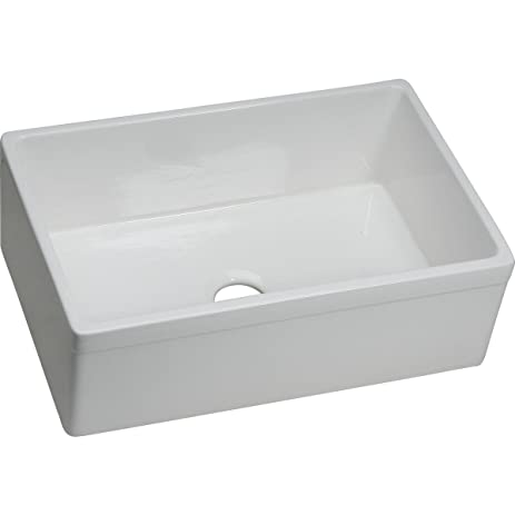 Elkay Fireclay SWUF28179WH Single Bowl Farmhouse Sink - Single ...