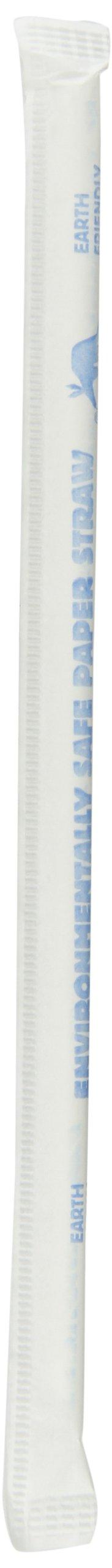 Aardvark 61500207 Wrapped Paper Jumbo Drinking Straw, 7/32'' Diameter x 7-3/4'' Length, White (8 Boxes of 400)