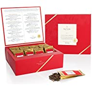 Tea Forté Single Steeps Loose Leaf TEA CHEST, Limited Edition Loose Leaf Tea Reserve, Varietal Special Teas (VST) Sampler, 28 Single Serve Pouches – Black Tea, Green Tea, Herbal Tea