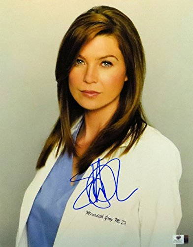 Ellen Pompeo Signed Autographed 11X14 Photo Grey's Anatomy Merideth GV830853 by Global Authentics