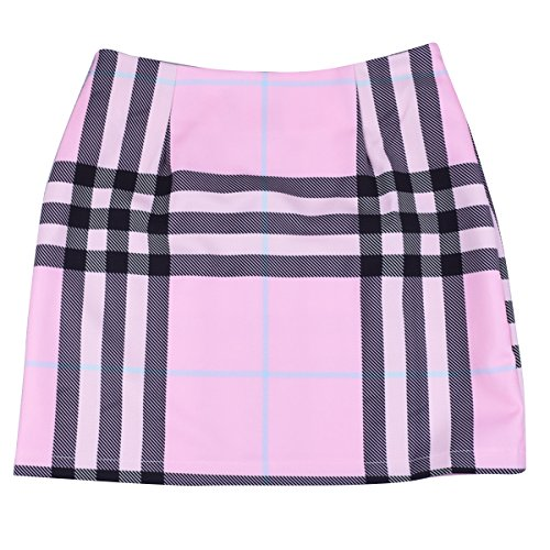 Haute Club Pink Plaid Moulante Sexy Taille Femmes Party Jupe Crayon pour Ylangareee Jupes New Mini wvSpqWX