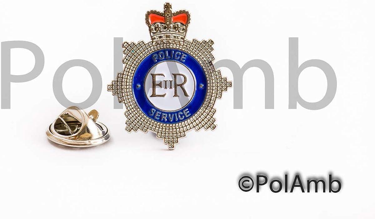 Policía Servicio Corona Metal Pisacorbatas Solapa Insignia: Amazon.es: Ropa y accesorios