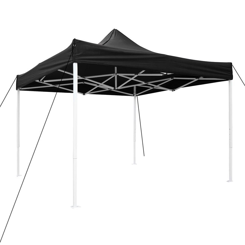 10' x 10' EZ Pop Up Tent Instant Shelter Canopy Black Steel Frame 420D PVC Oxford Waterproof w/ Carrying Bag for Outdoor Activities Parties Wedding Travel Events
